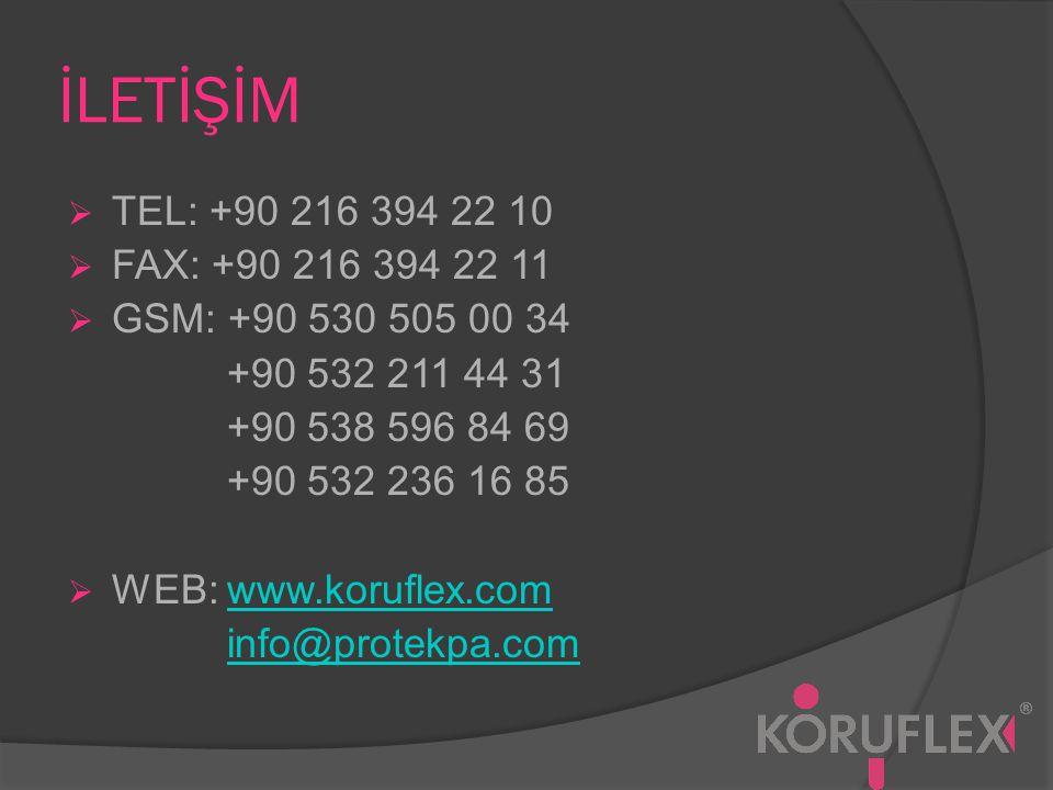 İLETİŞİM TEL: +90 216 394 22 10. FAX: +90 216 394 22 11. GSM: +90 530 505 00 34. +90 532 211 44 31.