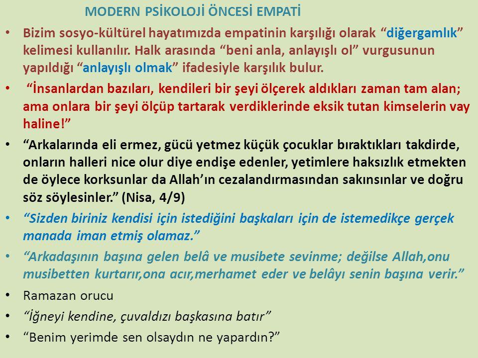 MODERN PSİKOLOJİ ÖNCESİ EMPATİ