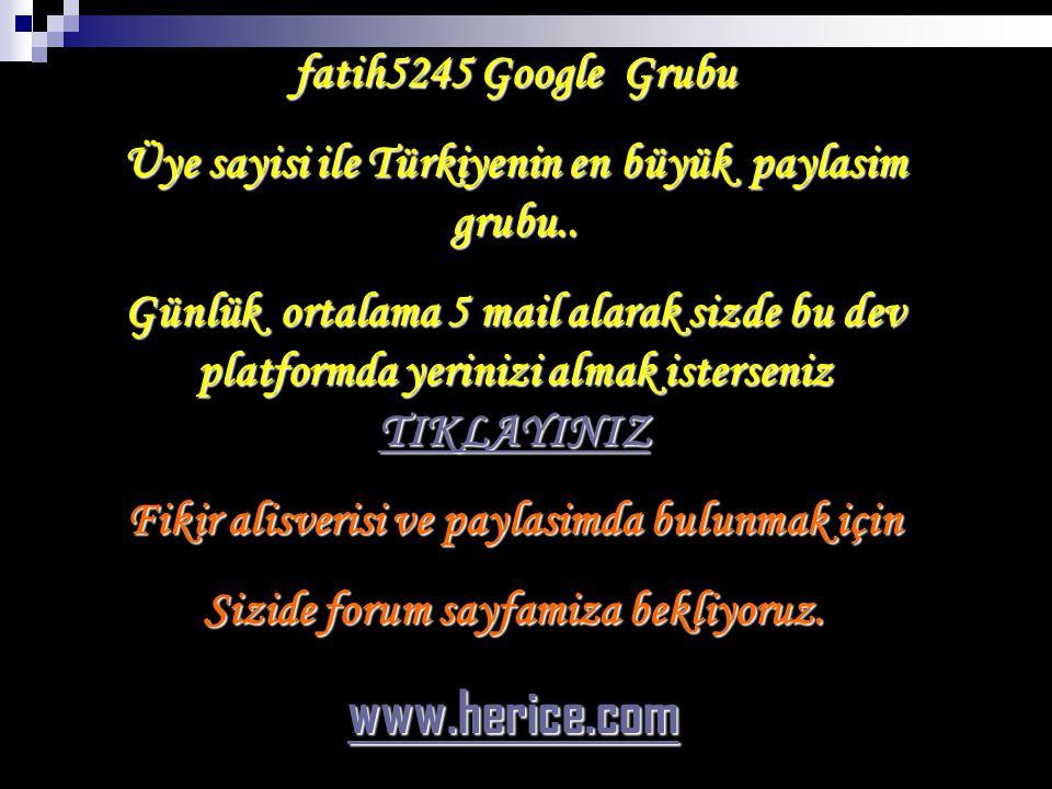 www.herice.com fatih5245 Google Grubu