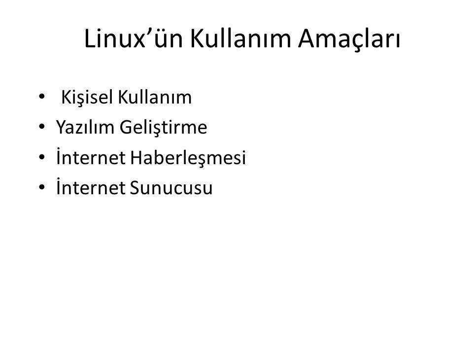Linux'ün Kullanım Amaçları