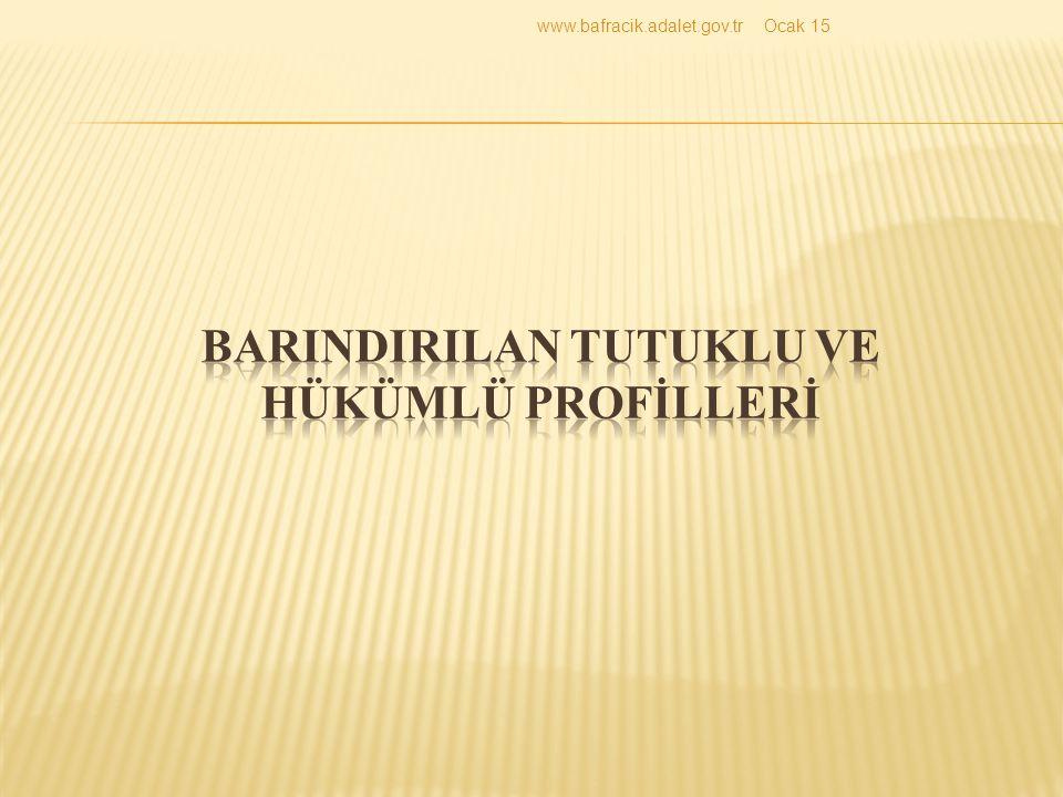BARINDIRILAN TUTUKLU VE HÜKÜMLÜ PROFİLLERİ
