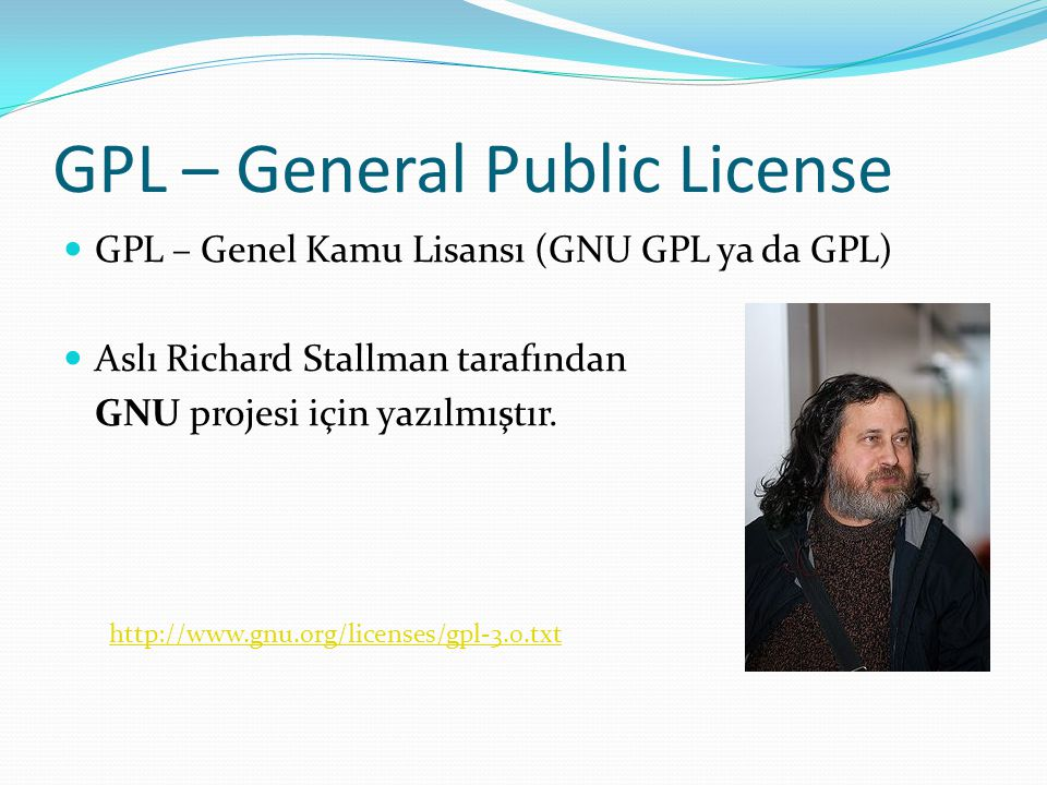 GPL – General Public License