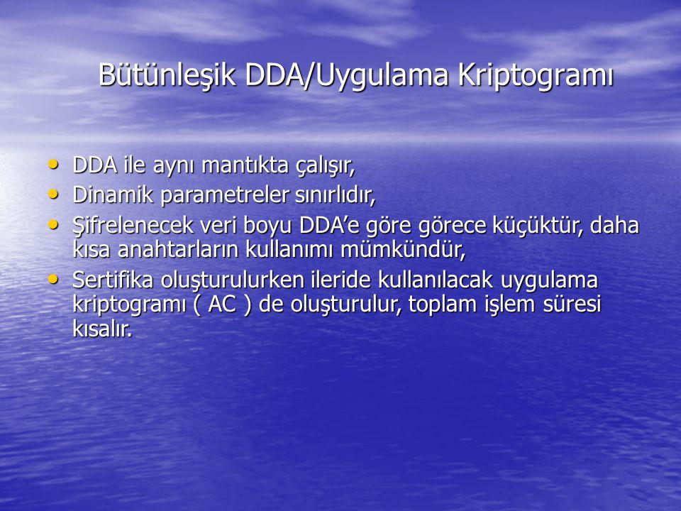 Bütünleşik DDA/Uygulama Kriptogramı