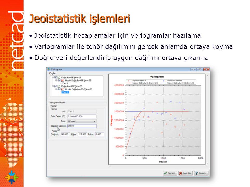 Jeoistatistik işlemleri