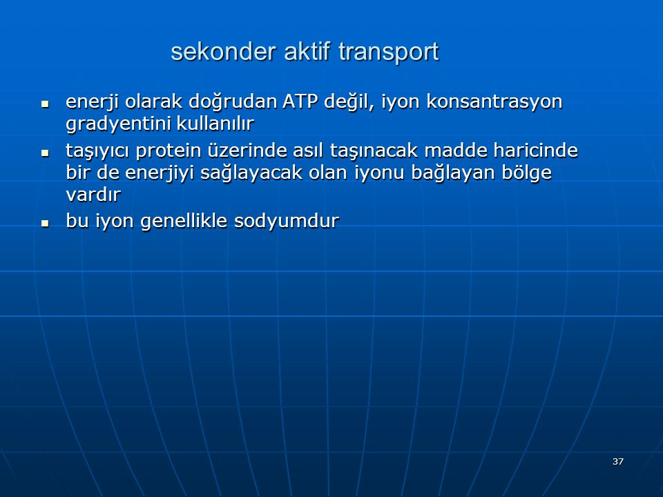 sekonder aktif transport