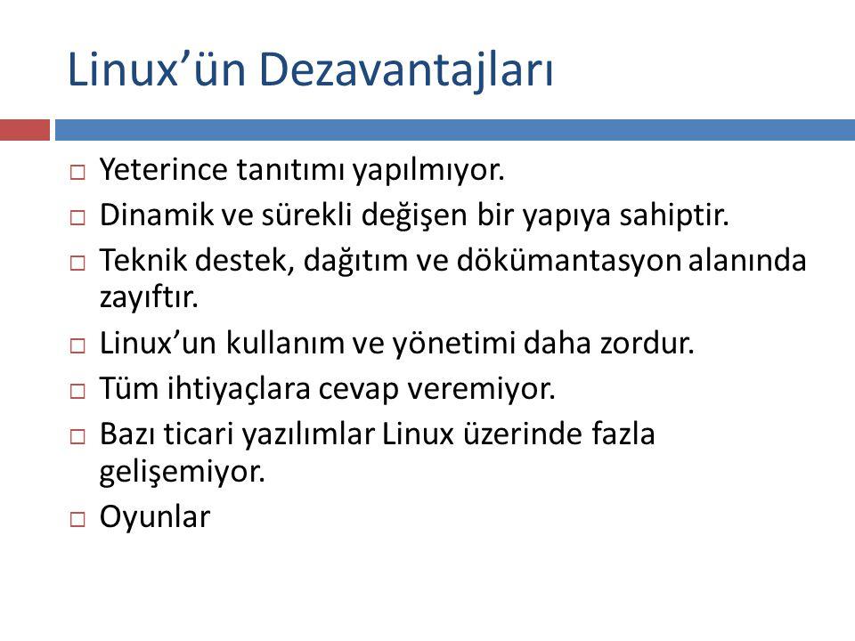 Linux'ün Dezavantajları
