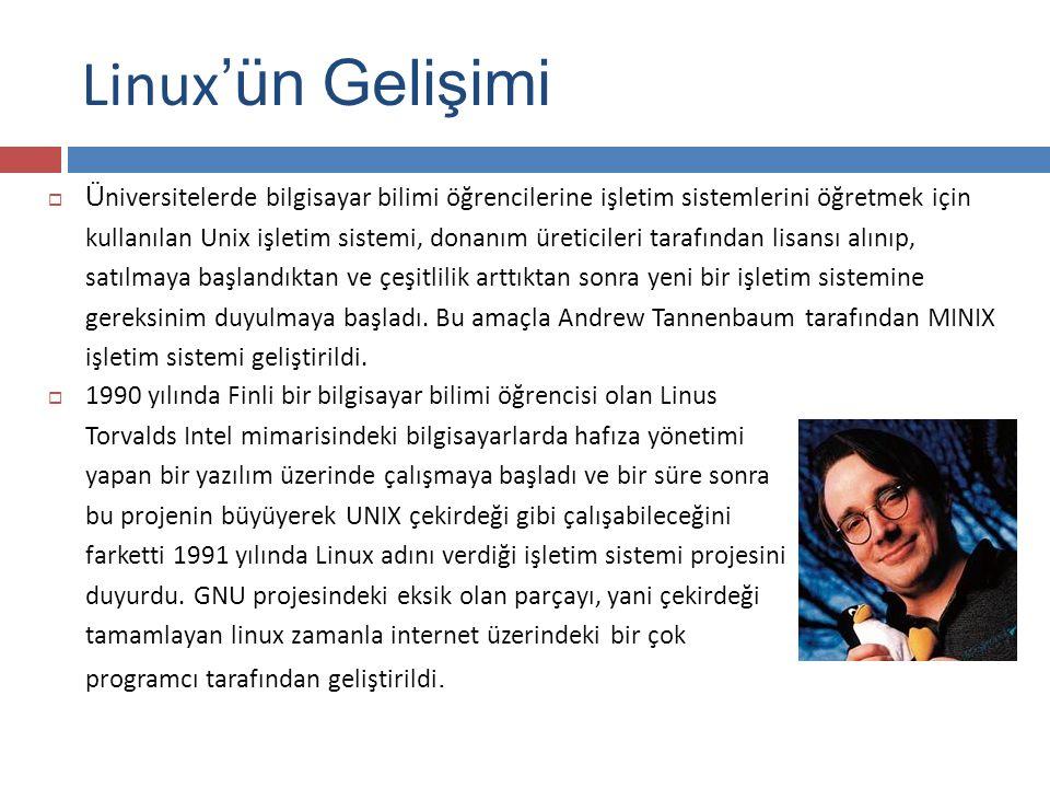 Linux'ün Gelişimi