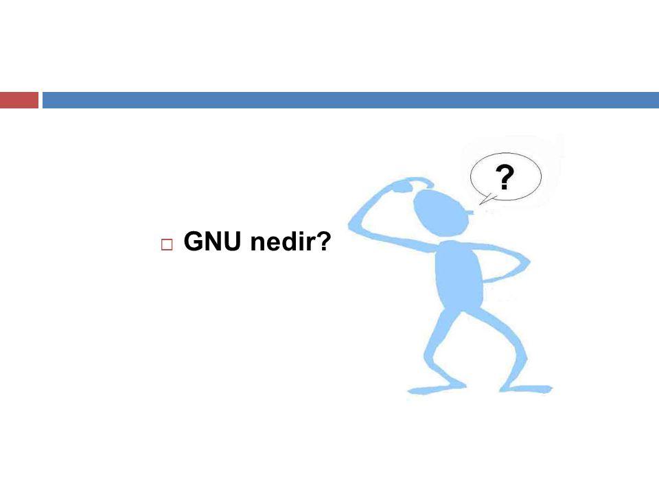 GNU nedir