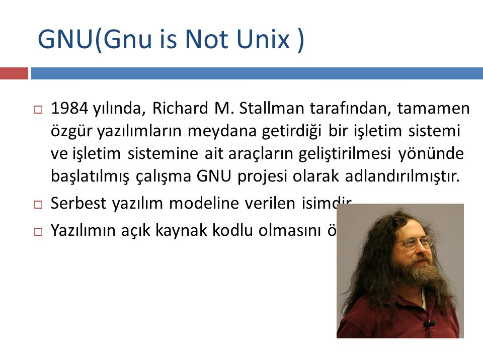 GNU(Gnu is Not Unix )