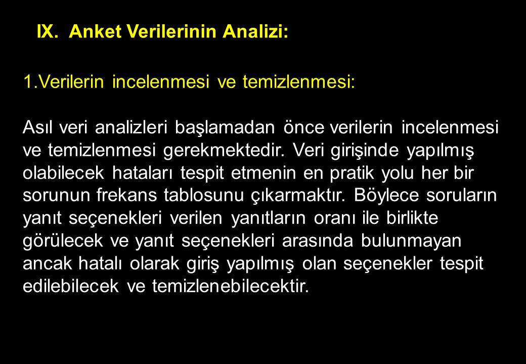 Anket Verilerinin Analizi: