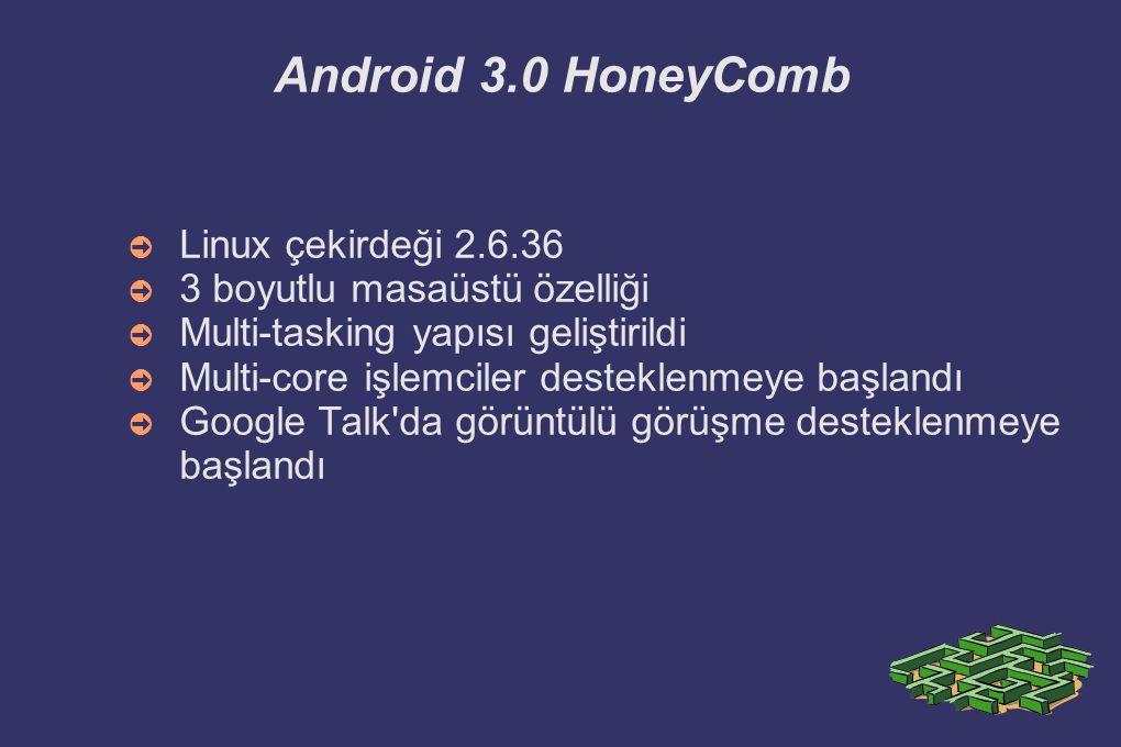 Android 3.0 HoneyComb Linux çekirdeği 2.6.36