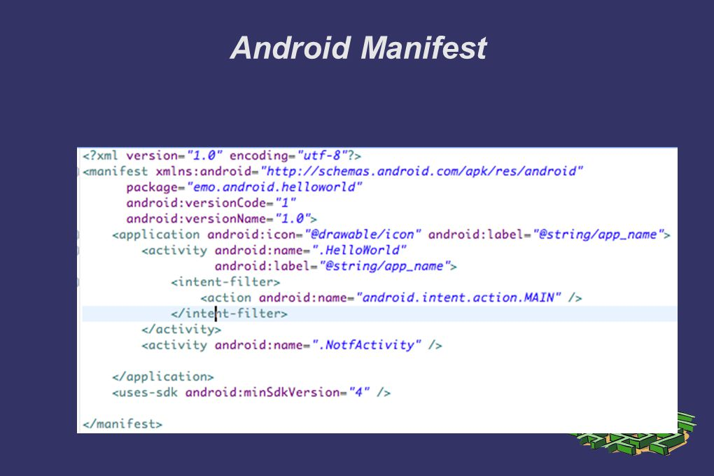 Android Manifest