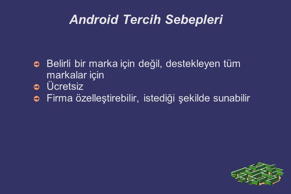 Android Tercih Sebepleri
