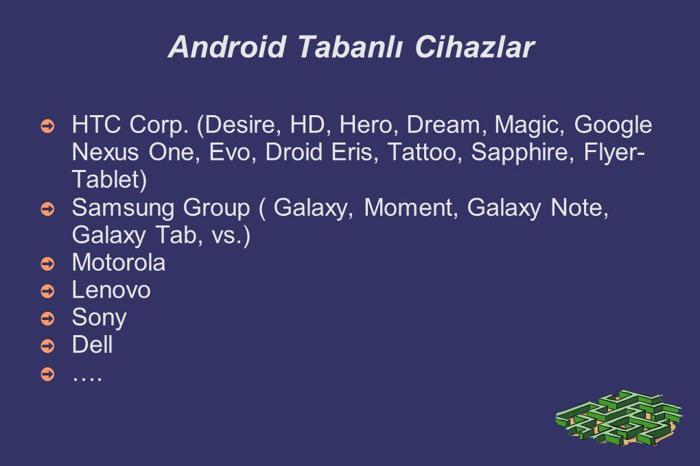 Android Tabanlı Cihazlar