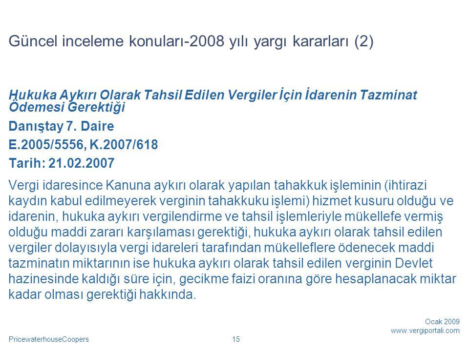 Güncel inceleme konuları-2008 yılı yargı kararları (2)