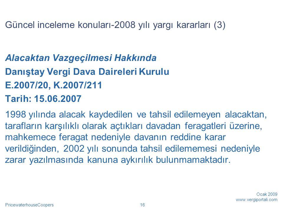 Güncel inceleme konuları-2008 yılı yargı kararları (3)