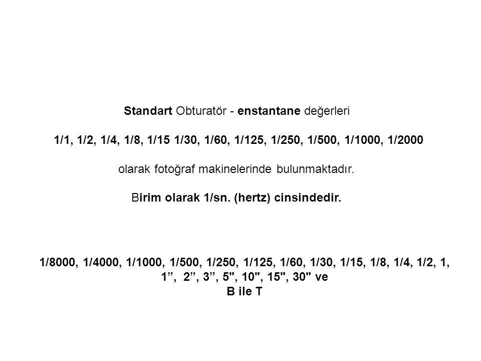 Standart Obturatör - enstantane değerleri
