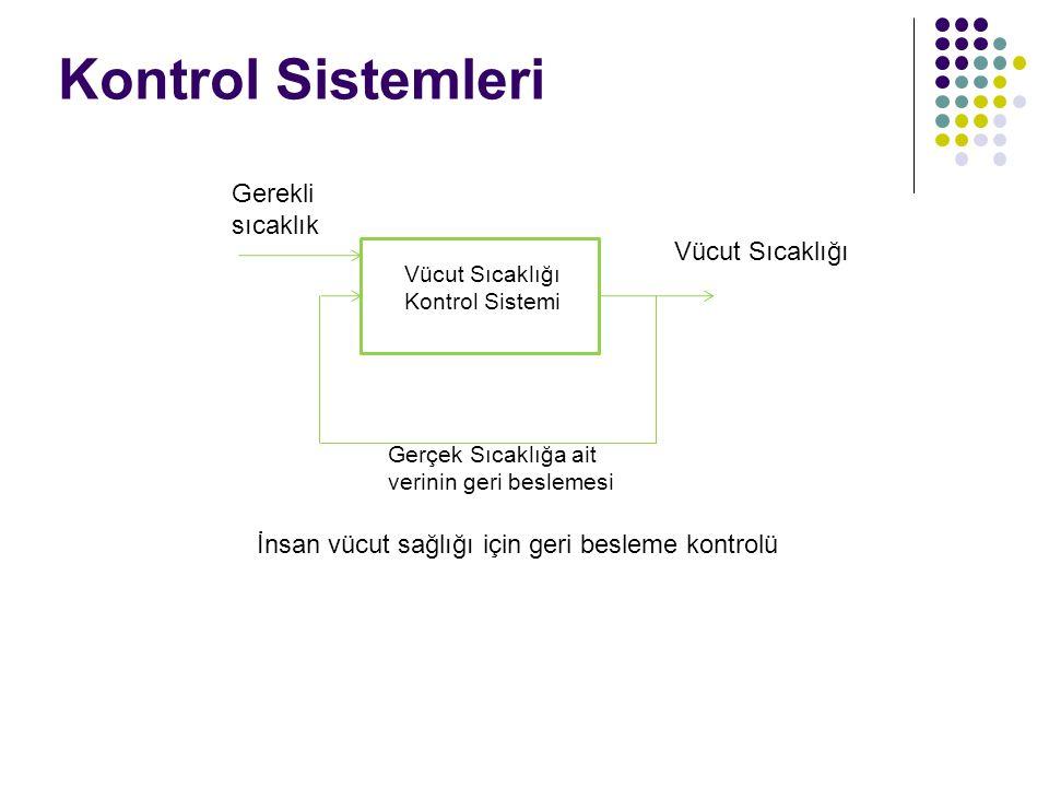 Kontrol Sistemleri Gerekli sıcaklık Vücut Sıcaklığı
