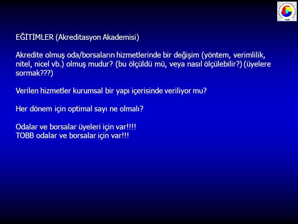 EĞİTİMLER (Akreditasyon Akademisi)