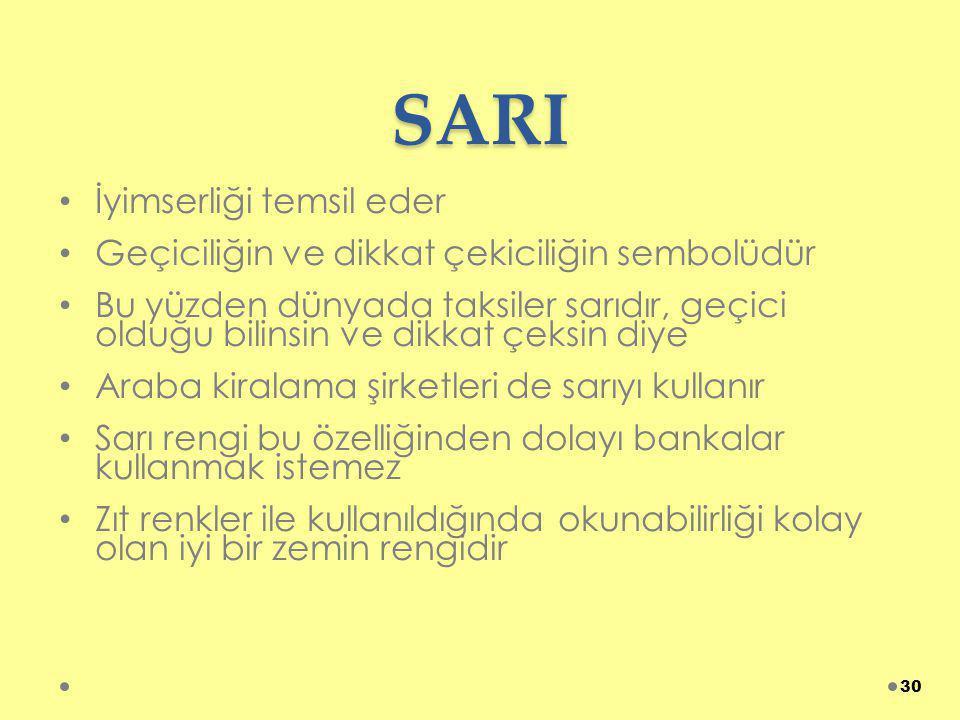 SARI İyimserliği temsil eder