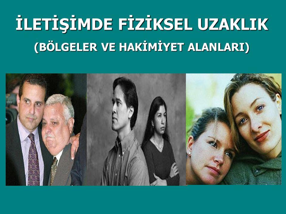 İLETİŞİMDE FİZİKSEL UZAKLIK (BÖLGELER VE HAKİMİYET ALANLARI)