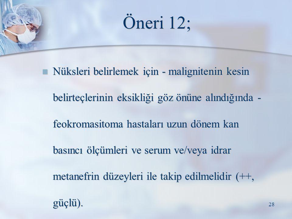 Öneri 12;