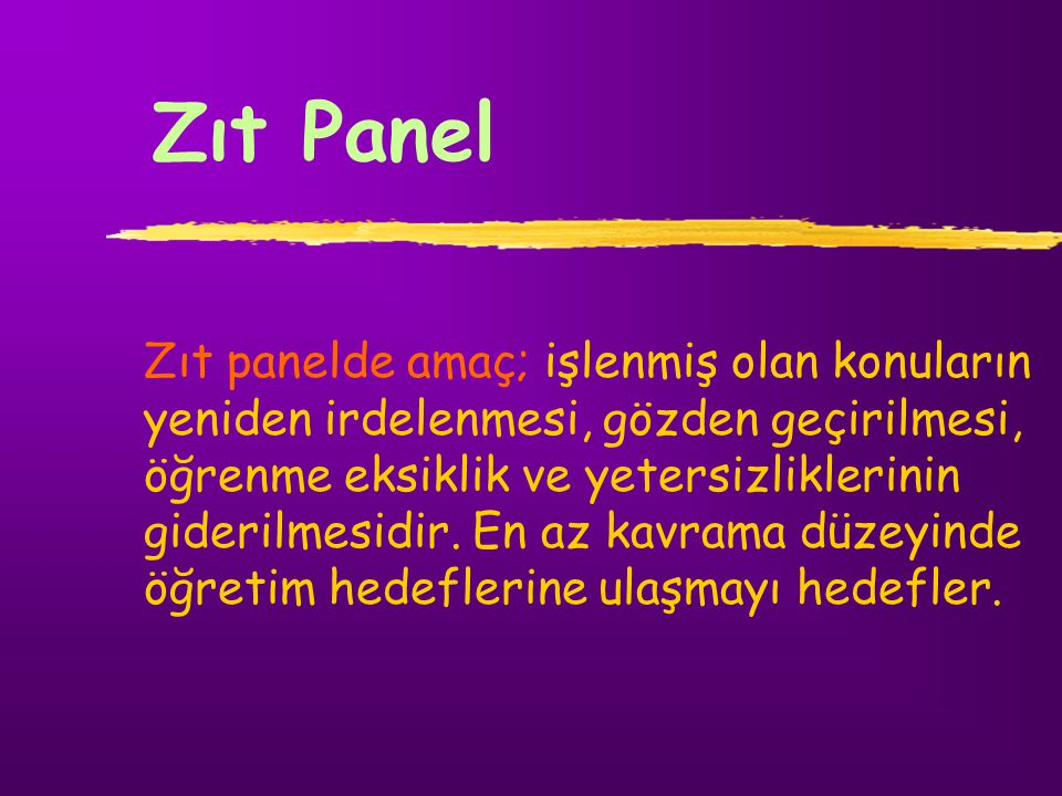 Zıt Panel