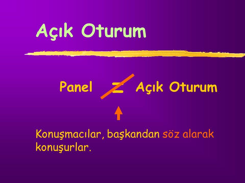 = Açık Oturum Panel Açık Oturum