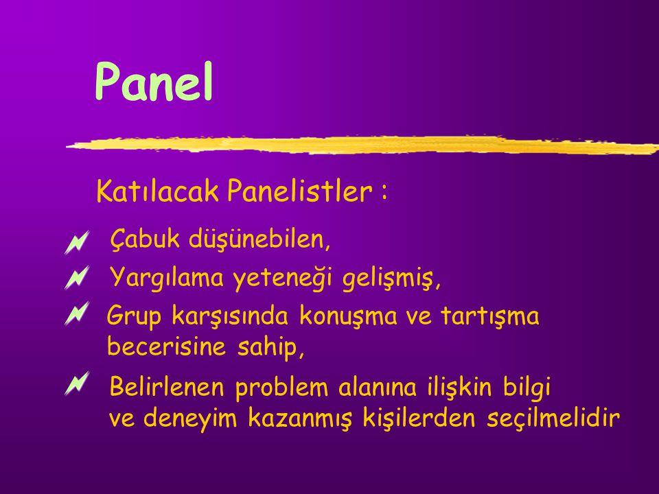 Katılacak Panelistler :