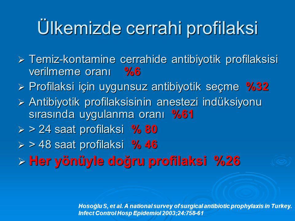 Ülkemizde cerrahi profilaksi