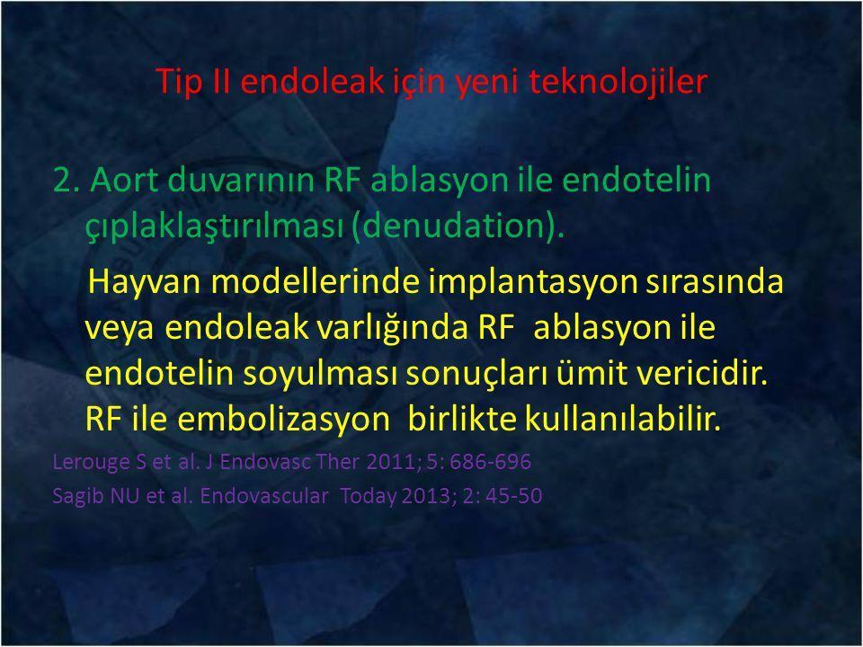 Tip II endoleak için yeni teknolojiler