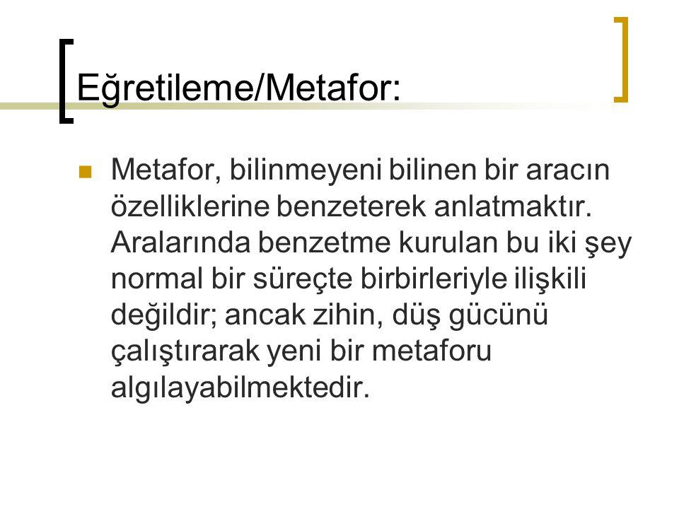 Eğretileme/Metafor: