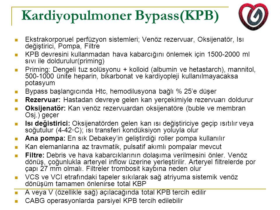 Kardiyopulmoner Bypass(KPB)