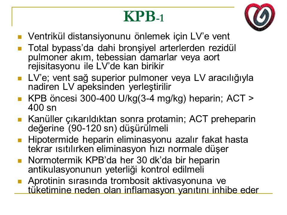 KPB-1 Ventrikül distansiyonunu önlemek için LV'e vent