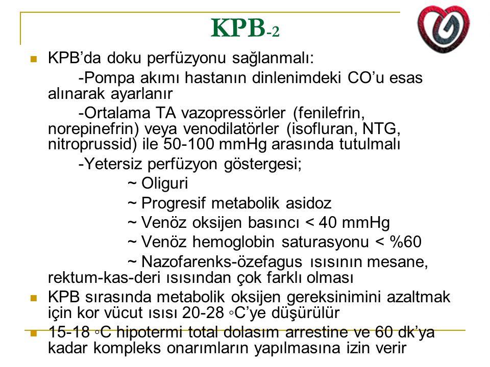 KPB-2 KPB'da doku perfüzyonu sağlanmalı: