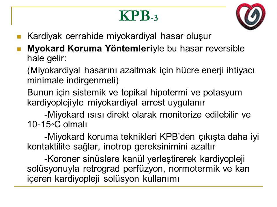 KPB-3 Kardiyak cerrahide miyokardiyal hasar oluşur