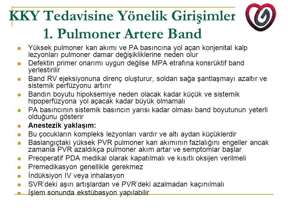 KKY Tedavisine Yönelik Girişimler 1. Pulmoner Artere Band