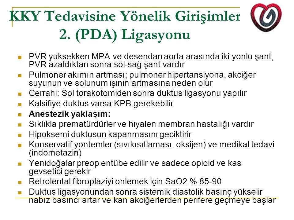 KKY Tedavisine Yönelik Girişimler 2. (PDA) Ligasyonu
