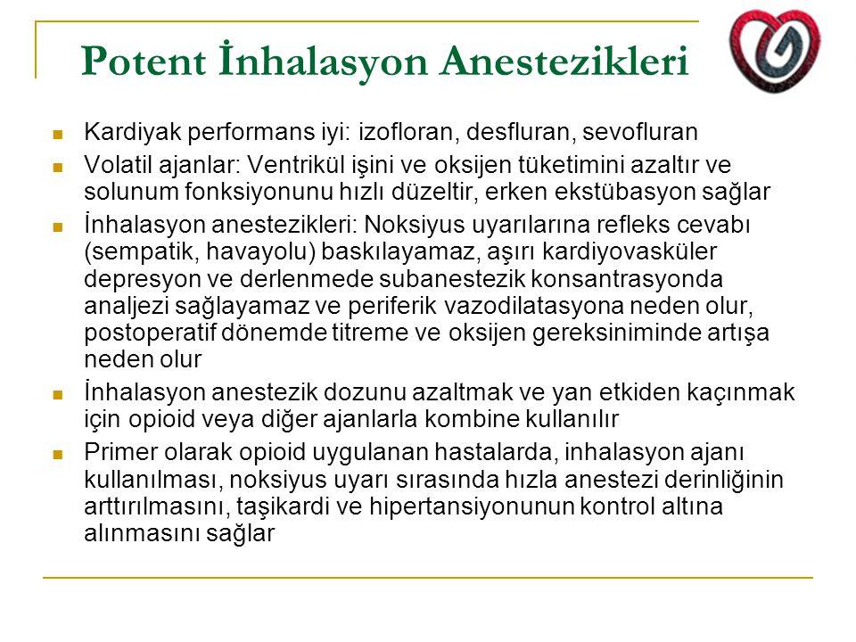 Potent İnhalasyon Anestezikleri