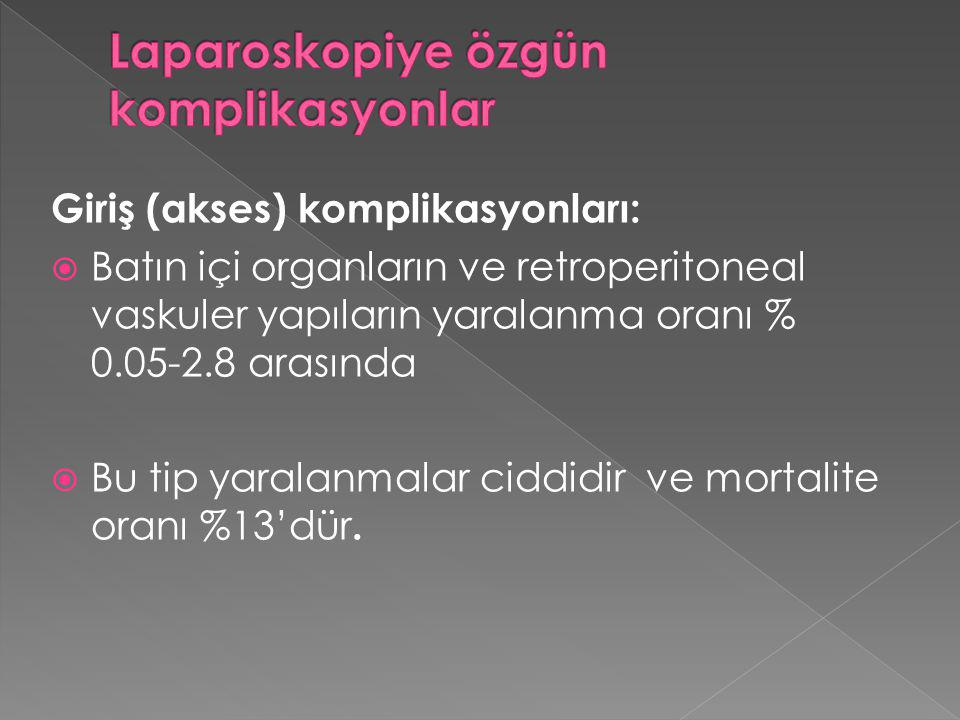 Laparoskopiye özgün komplikasyonlar