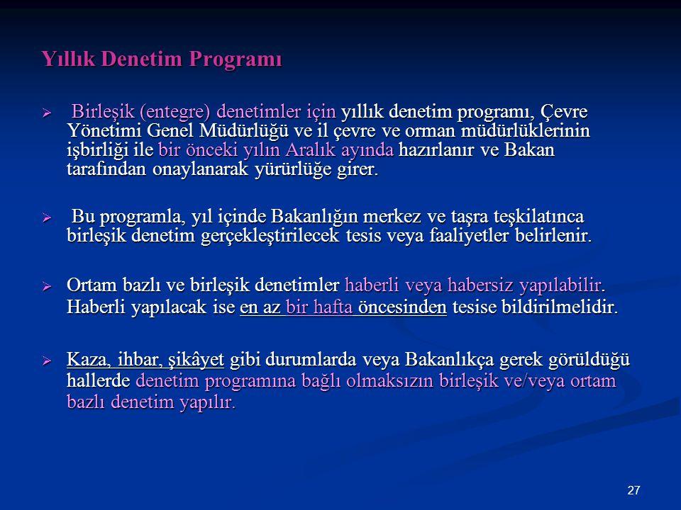 Yıllık Denetim Programı
