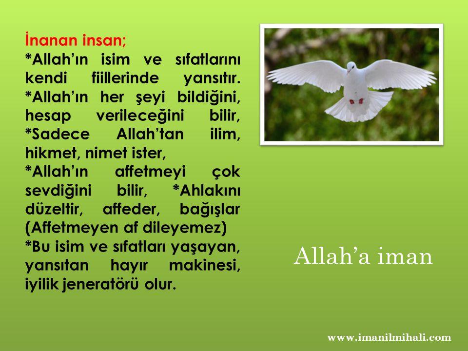 Allah'a iman İnanan insan;