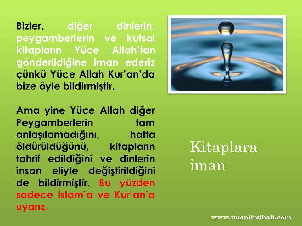 Bizler, diğer dinlerin, peygamberlerin ve kutsal kitapların Yüce Allah'tan gönderildiğine iman ederiz çünkü Yüce Allah Kur'an'da bize öyle bildirmiştir.