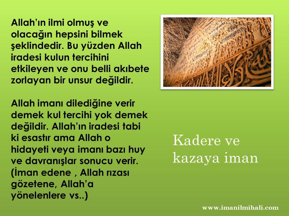 Allah'ın ilmi olmuş ve olacağın hepsini bilmek şeklindedir