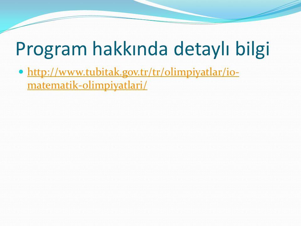 Program hakkında detaylı bilgi