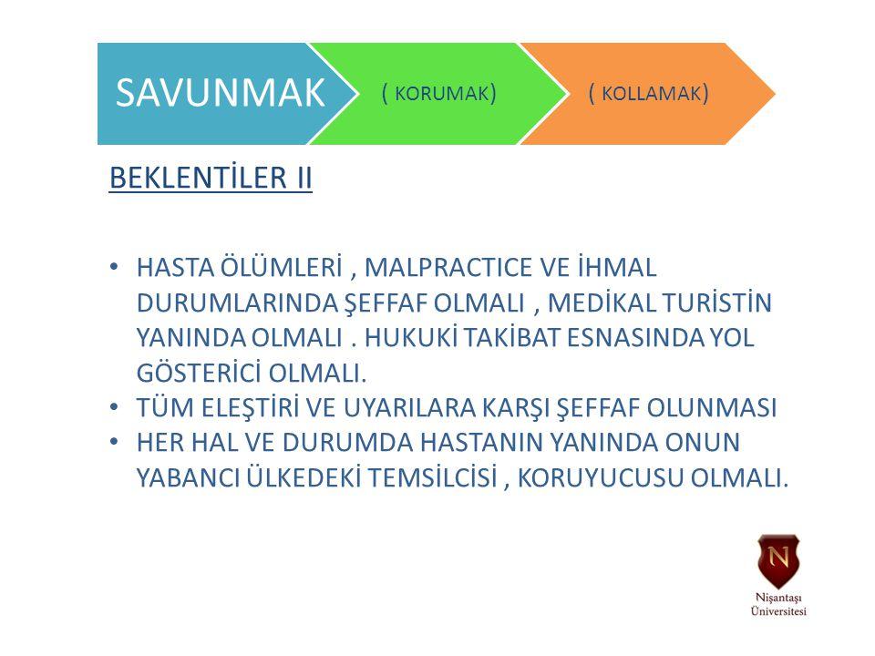 SAVUNMAK BEKLENTİLER II