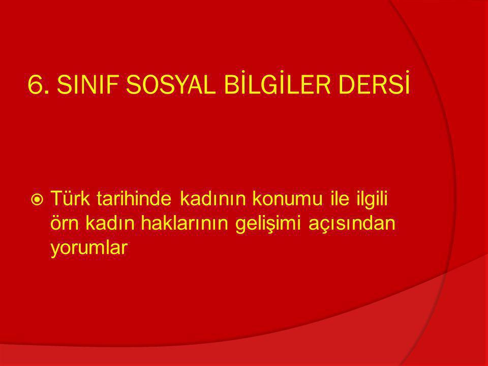 6. SINIF SOSYAL BİLGİLER DERSİ