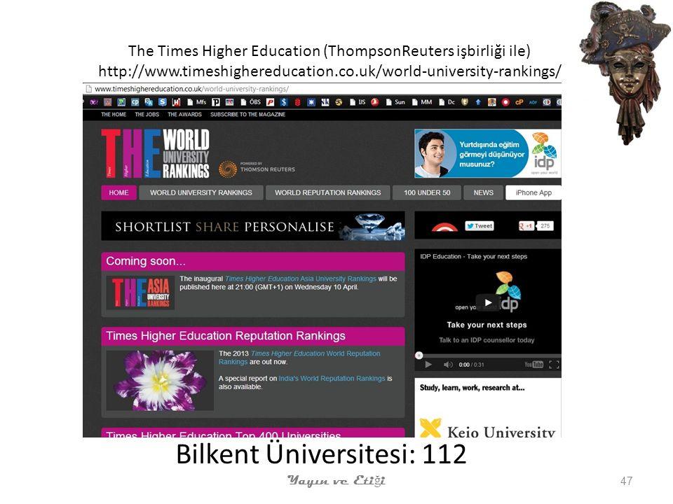 Bilkent Üniversitesi: 112