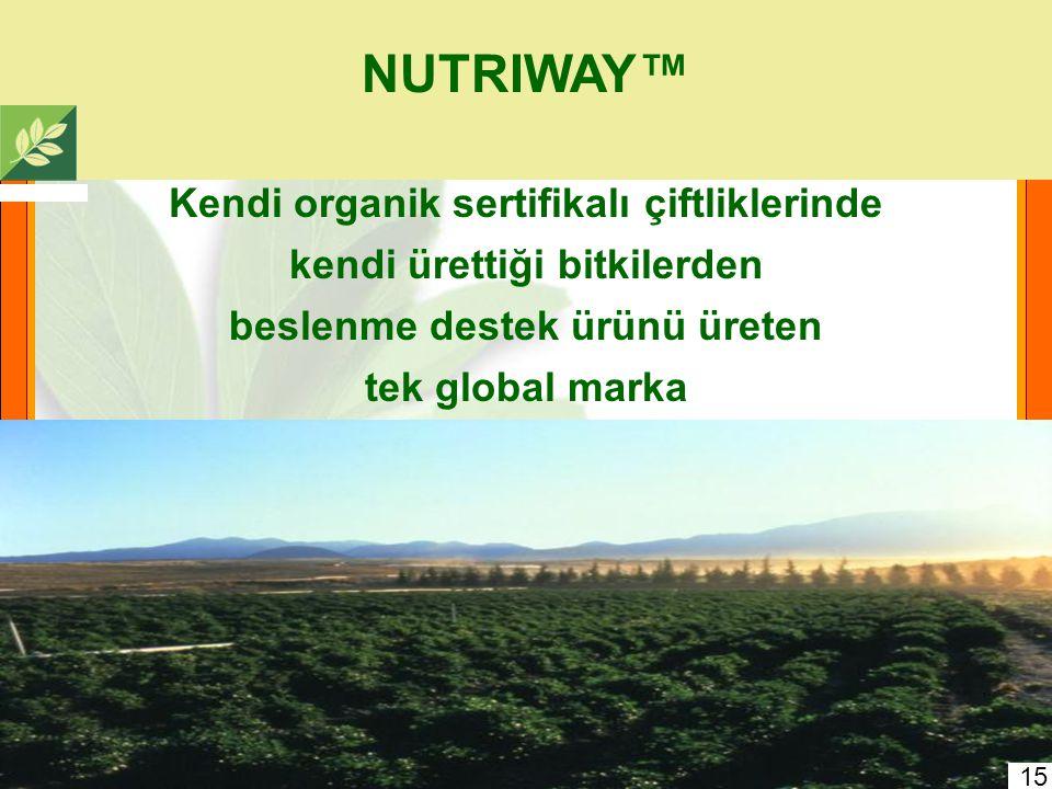 NUTRIWAY™ Kendi organik sertifikalı çiftliklerinde