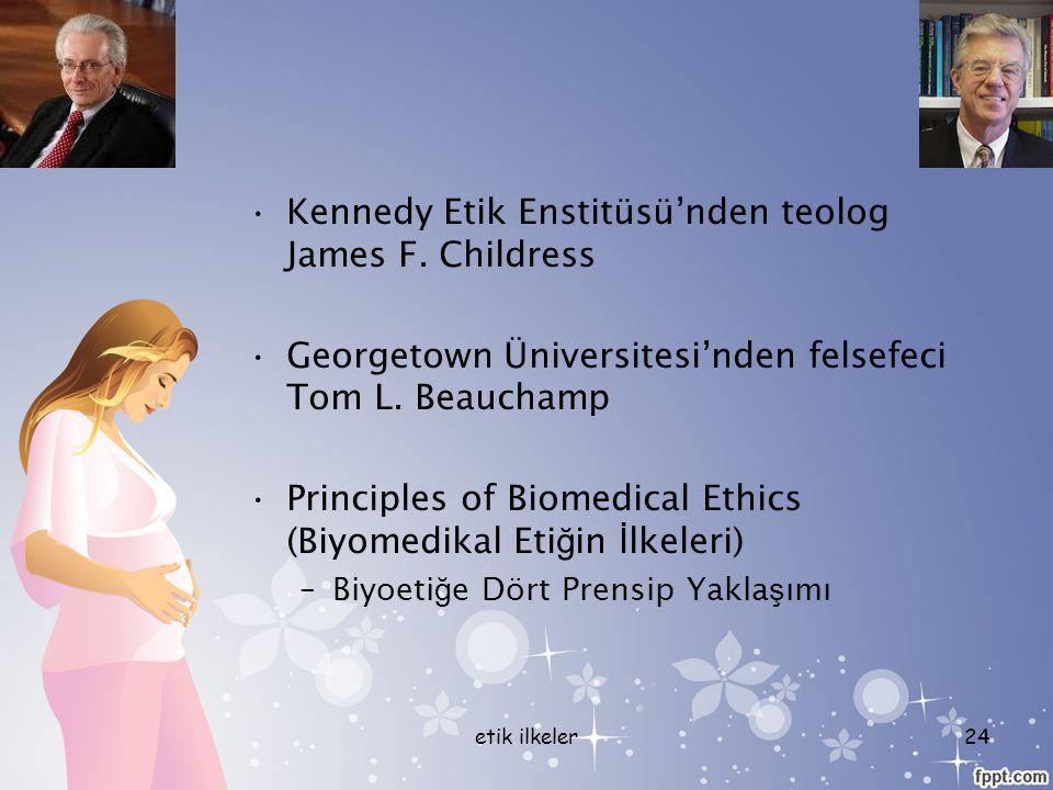Kennedy Etik Enstitüsü'nden teolog James F. Childress